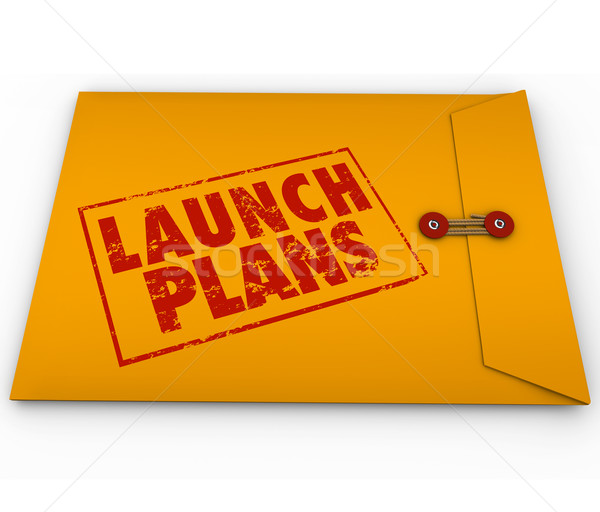 Stock photo: Launch Plans Yellow Envelope Start New Business Company Secrets
