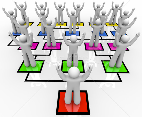 Troepen organisatie grafiek leider werknemers Stockfoto © iqoncept