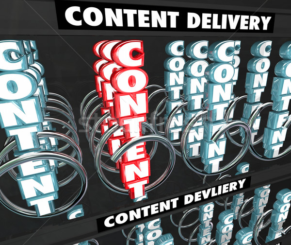 Content Delivery Network Information Sharing Photos Video vendin Stock photo © iqoncept