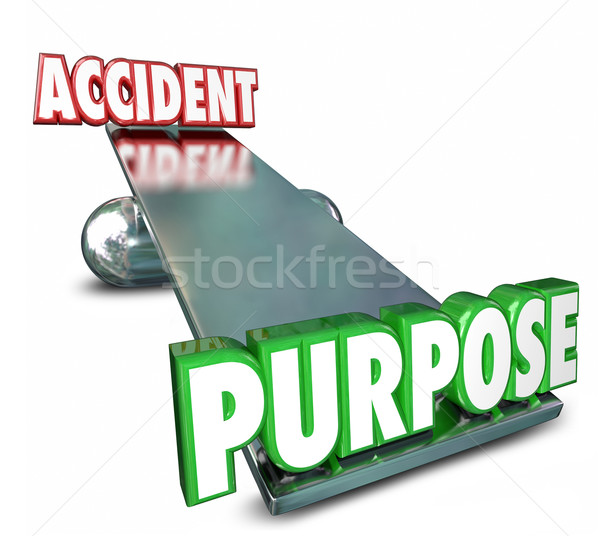 Purpose Vs Accident Opposite Words See Saw Balance Intentional A Stock photo © iqoncept