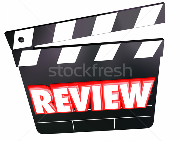 Review Movie Clapper Film Critic Rating Comments Opinions Stock photo © iqoncept