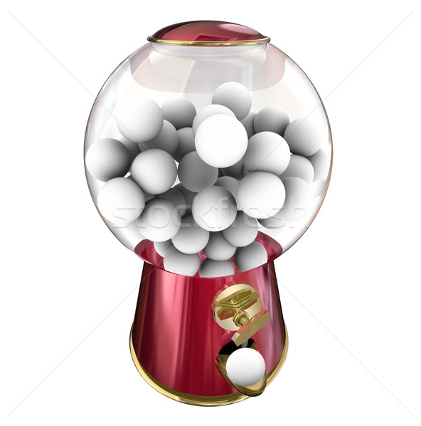Gumball Machine Candy Dispenser Sugar Treat Snack Blank Copy Spa Stock photo © iqoncept