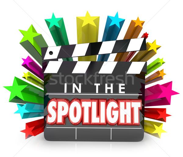 In the Spotlight Movie Clapper Stars Recognition Appreciation Pr Stock photo © iqoncept