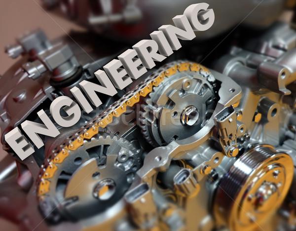 Mérnöki motor sebességváltó autóipari erő szó Stock fotó © iqoncept