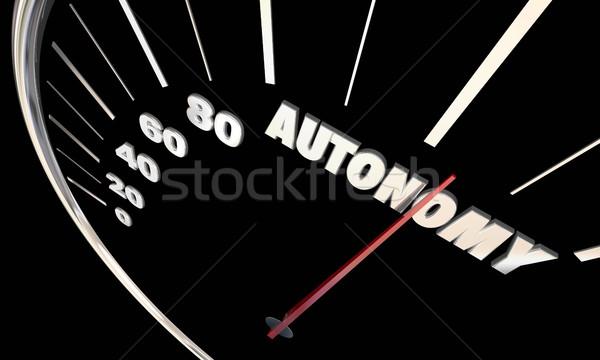 Autonomy Self Driving Cars Vehicles Autonomous 3d Illustration Stock photo © iqoncept