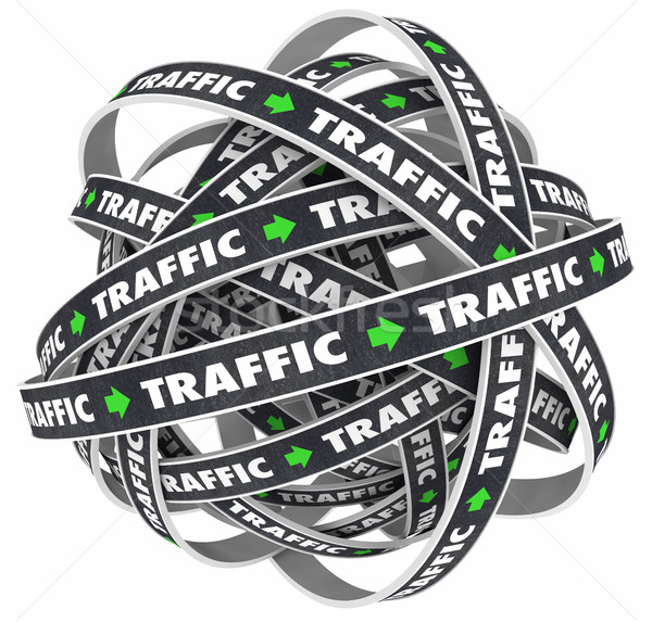 Traffic Road Ball Transportation Moving Word 3d Illustration Stock photo © iqoncept