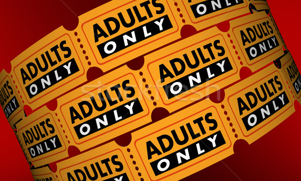 Adults Only Mature Content Movie Tickets 3d Illustration Stock photo © iqoncept