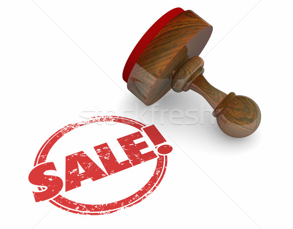 Sale Stamp Word Deal Agreement Discount Offer 3d Illustration Stock photo © iqoncept
