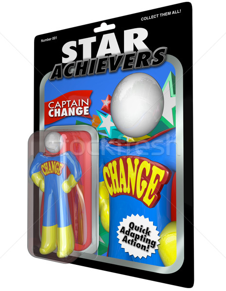 Change Action Figure - Adjust and Adapt with Successful Leader Stock photo © iqoncept