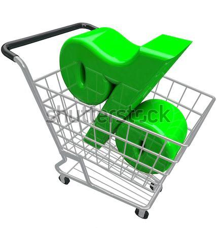 Föld bevásárlókocsi vásárol zöld barátságos termékek Stock fotó © iqoncept
