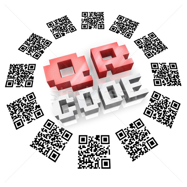 QR Codes in Ring Scan for Product Information Stock photo © iqoncept