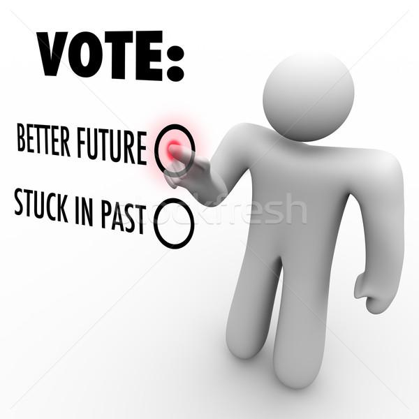 голосования лучше будущем выборы изменений человека Сток-фото © iqoncept