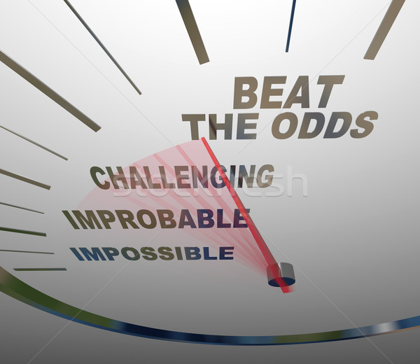 Beat the Odds Successful Goal Achievement Speedometer Stock photo © iqoncept