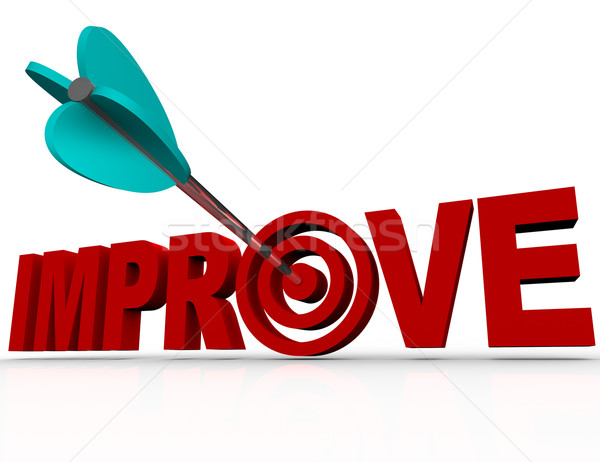 Improve Arrow in Target - Successful Improvement Goal Stock photo © iqoncept