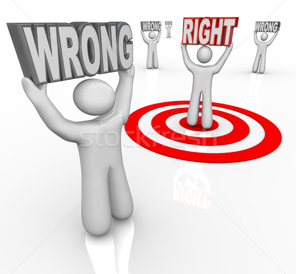 Right vs Wrong Person Choose Best in Crowd of People Stock photo © iqoncept