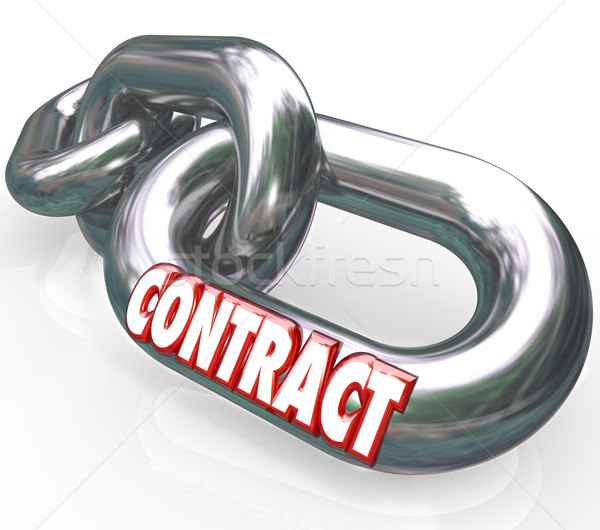 Contract Word on Chain Links Connected Bound Stock photo © iqoncept