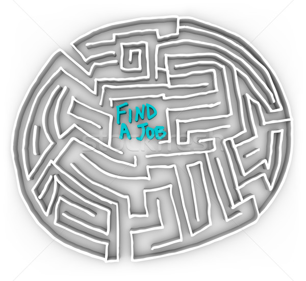Find a Job - Circular Maze Stock photo © iqoncept