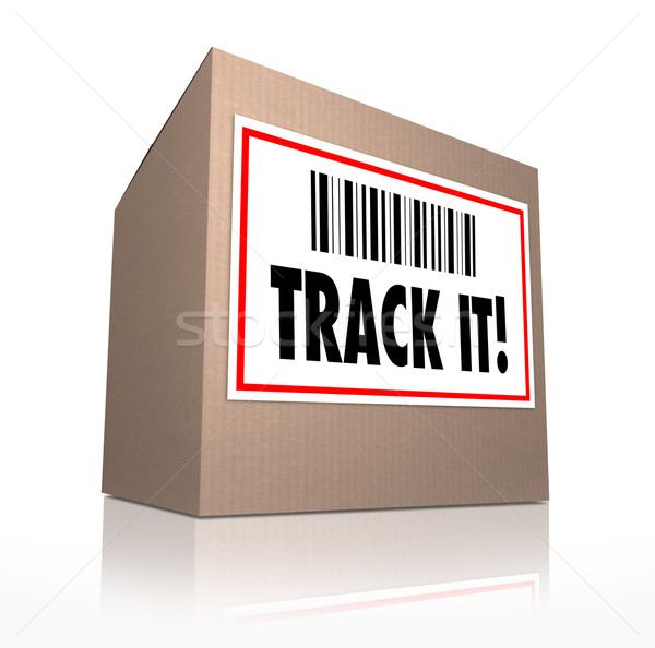 Track It Words Package Tracking Shipment Logistics Stock photo © iqoncept