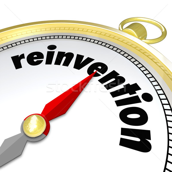 Reinvention Gold Compass Start New Life Career Stock photo © iqoncept