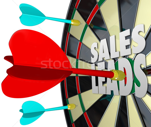 Sales Leads Dart Board Selling Prospects Customers Stock photo © iqoncept