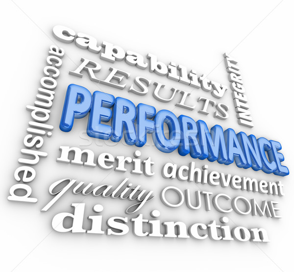 Performance 3d Word Collage Job Task Completed Achievement Stock photo © iqoncept