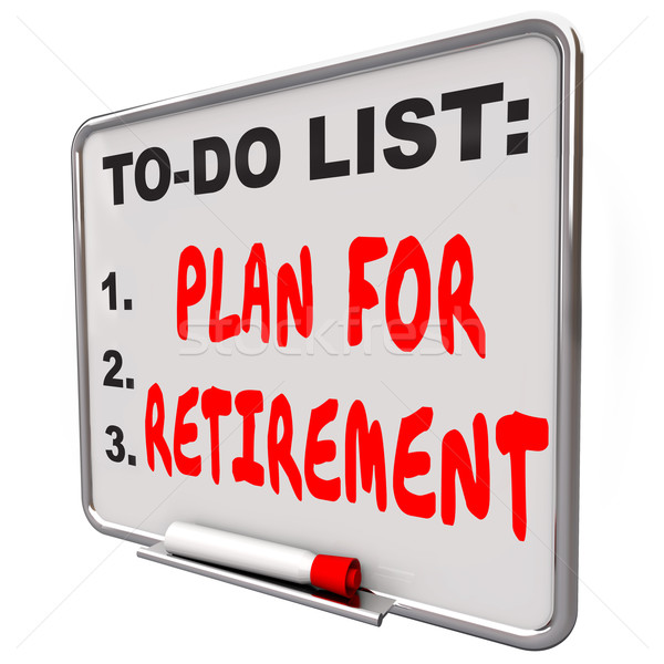 Plan Your Retirement To Do List Income Saving Golden Years Messa Stock photo © iqoncept