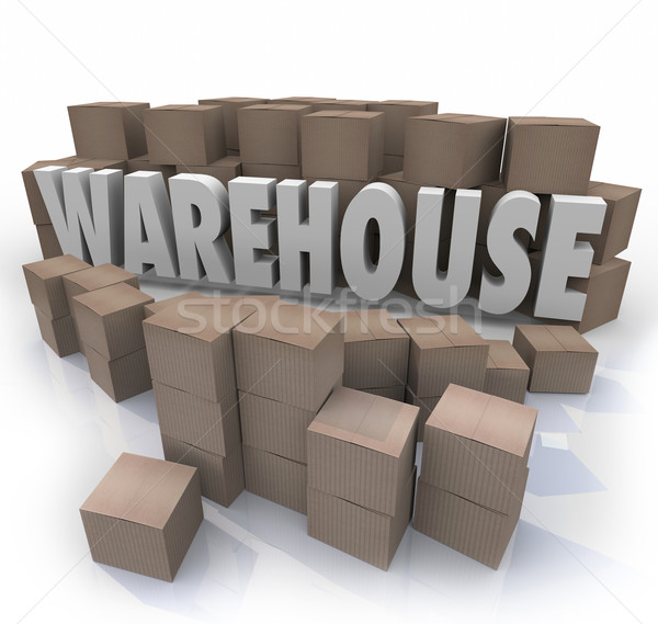 Warehouse Boxes Inventory Management Storage  Stock photo © iqoncept