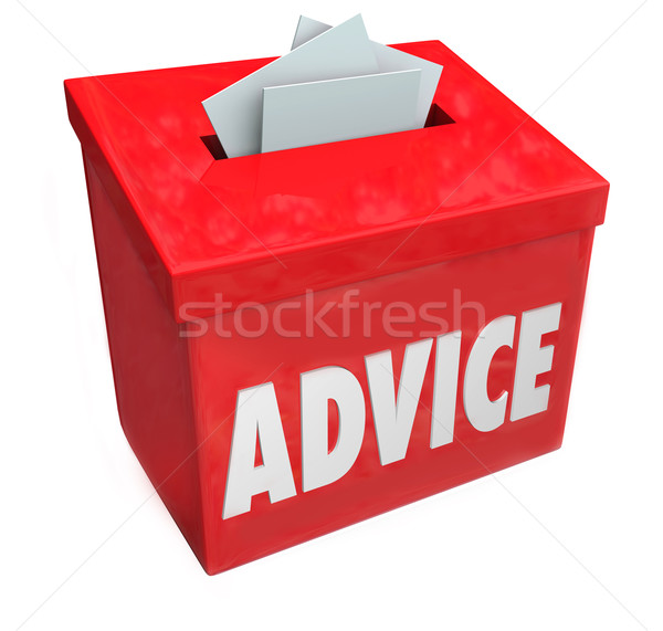 Advice Word Suggestion Box Consulting Idea Feedback Input Stock photo © iqoncept