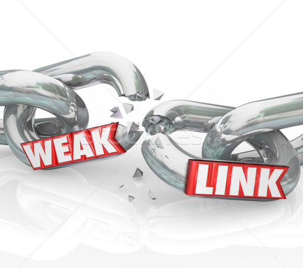 Weak Link Chains Breaking Broken Bad Performance Poor Job Stock photo © iqoncept