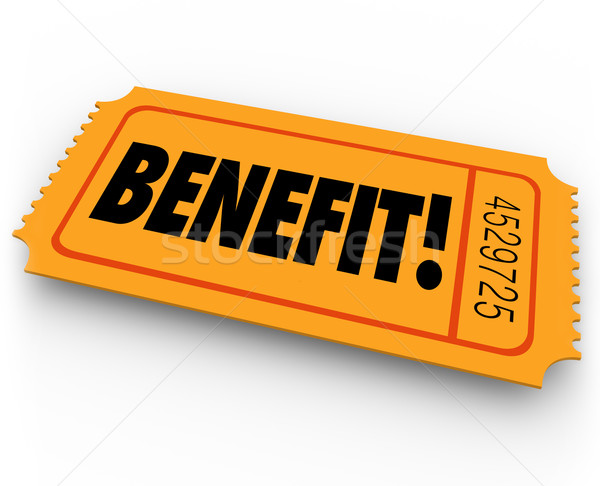 Benefit Raffle Ticket Charity Fundraiser Enter to Win Prize Stock photo © iqoncept