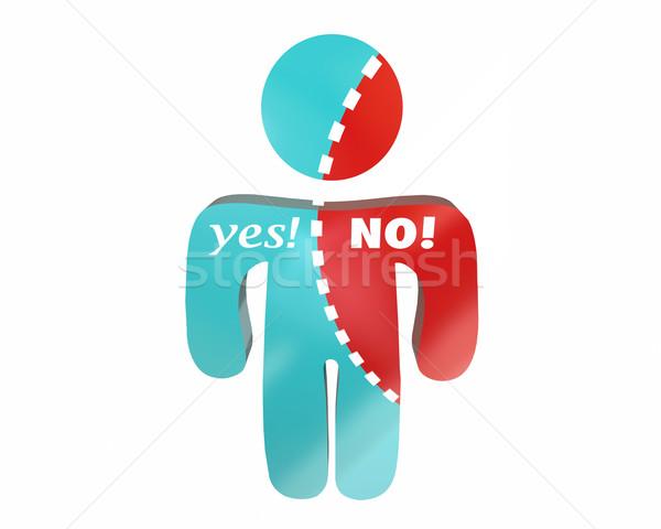 Igen nem személy szavak határozatlan szavazás Stock fotó © iqoncept