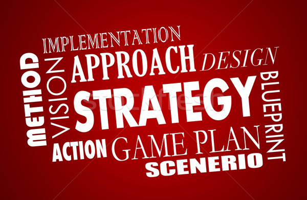 Strategy Plan Business Vision Word Collage 3d Illustration Stock photo © iqoncept
