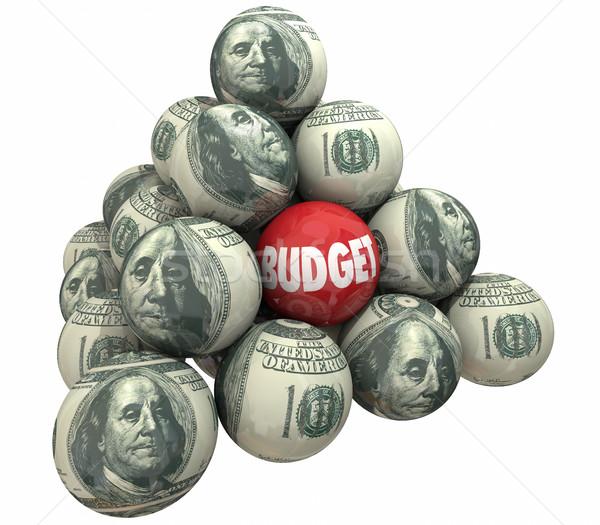 予算 お金 計画 金融 会計 ピラミッド ストックフォト © iqoncept