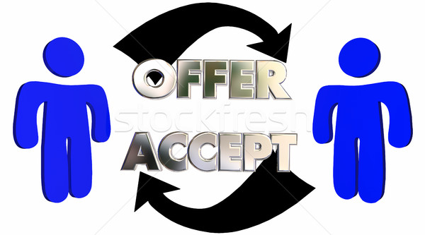 Offer Accepted People Customer Sales Person Deal 3d Illustration Stock photo © iqoncept
