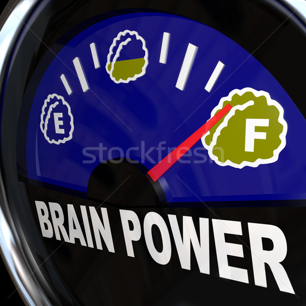 Brain Power Gauge Measures Creativity and Intelligence Stock photo © iqoncept