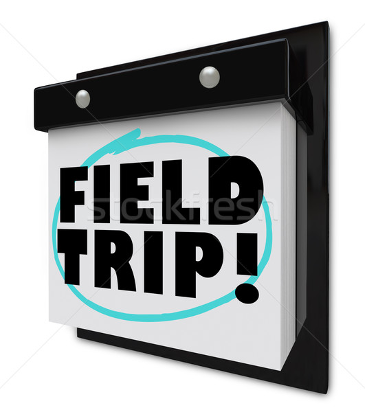 Field Trip Words Circled - School Outing Stock photo © iqoncept