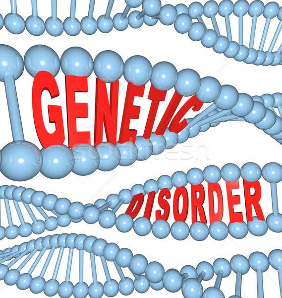 Genetik mutasyon DNA hastalık sözler Stok fotoğraf © iqoncept