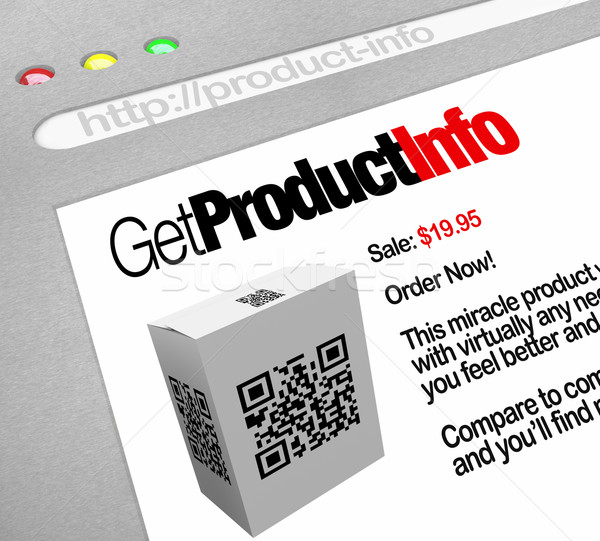 QR Code - Web Screen Website of Product Information Stock photo © iqoncept