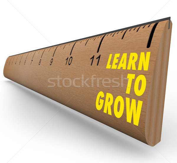 Ruler - Learn to Grow Stock photo © iqoncept