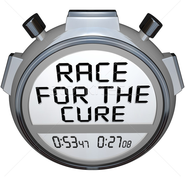 Stopwatch Timer Race for the Cure Clock Time Stock photo © iqoncept