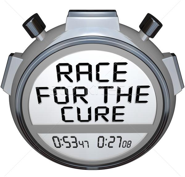 Stoper regulator czasowy wyścigu leczyć zegar czasu Zdjęcia stock © iqoncept