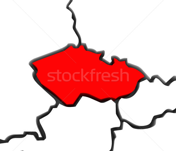 Czech Republic Region Map Central Europe  Stock photo © iqoncept