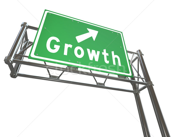 Freeway Sign - Growth - Isolated Stock photo © iqoncept