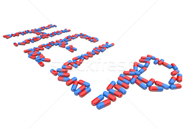 Stock photo: Help - Word in Red and Blue Capsules