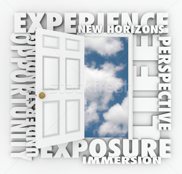 Stock photo: Experience New Horizons Door Opens Leading to Opportunity