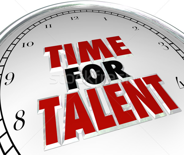 Time for Talent Clock Looking Searching Job Candidates Skilled P Stock photo © iqoncept