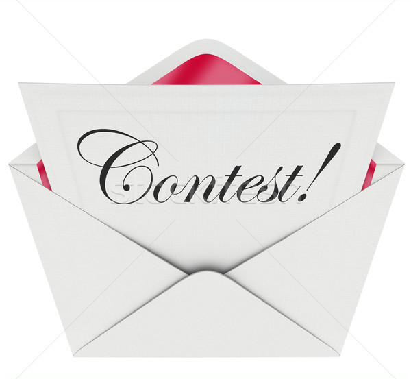 Stock photo: Contest Word Entry Form Letter Envelope Invitation to Play