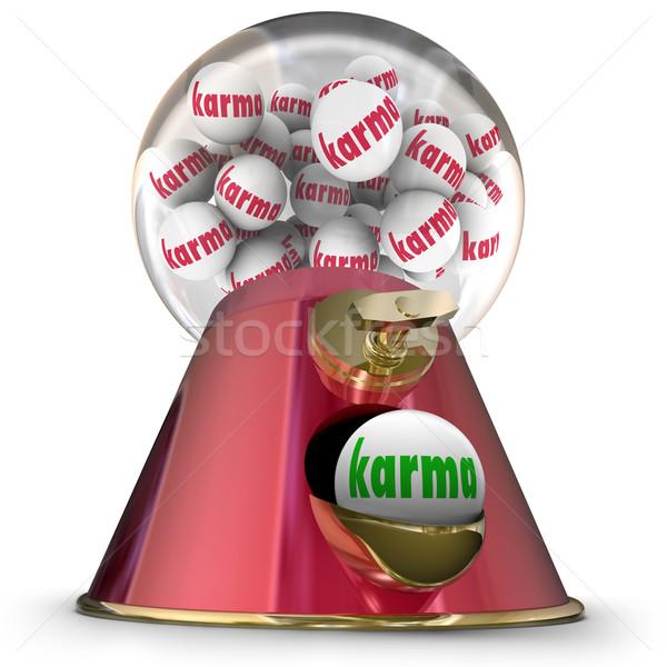Karma íny labda gép győzelem legjobb Stock fotó © iqoncept