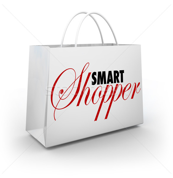 Smart Shopper Shopping Bag Buying Merchandise Store Sale Stock photo © iqoncept