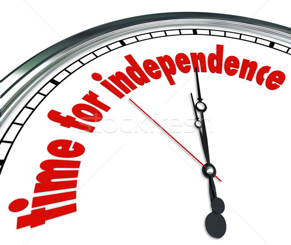 Time for Independence Clock Go Your Own Way Self Reliant Stock photo © iqoncept